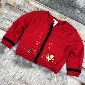 Winnie the Pooh Red Ice Skating Cardigan Disney
